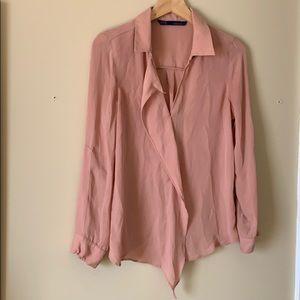 Zara Basic Blush Blouse